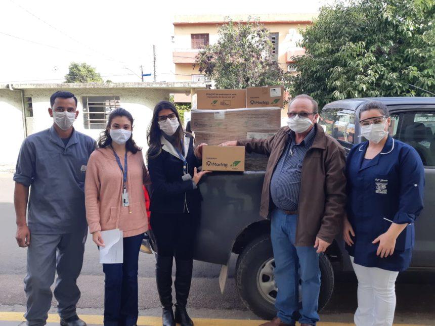 Santa Casa recebe doação de mais de 750 litros de álcool gel do Marfrig – Unidade de São Gabriel