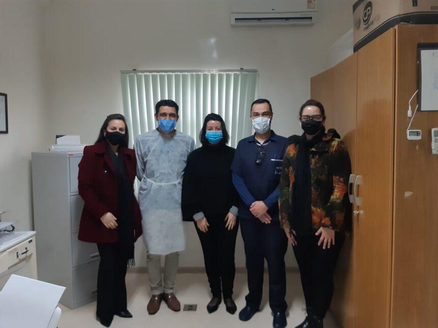 Equipe Técnica do Hemocentro de Alegrete realiza inspeção e visita técnica na Agência Transfuncional da Santa Casa