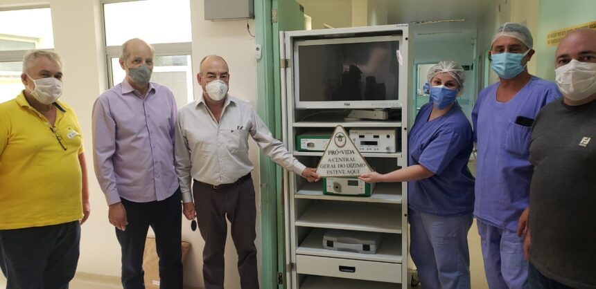 Santa Casa recebe torre de laparoscopia do Movimento PRÓ VIDA – Central Geral do Dízimo